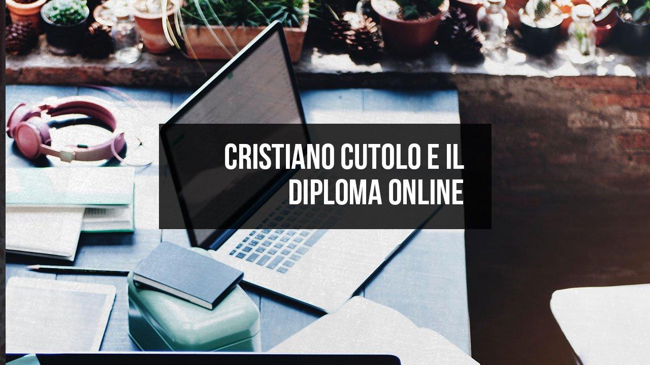 Cristiano Cutolo diplomato on line con la scuola CODE