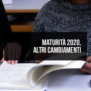 Maturità 2020, altri cambiamenti