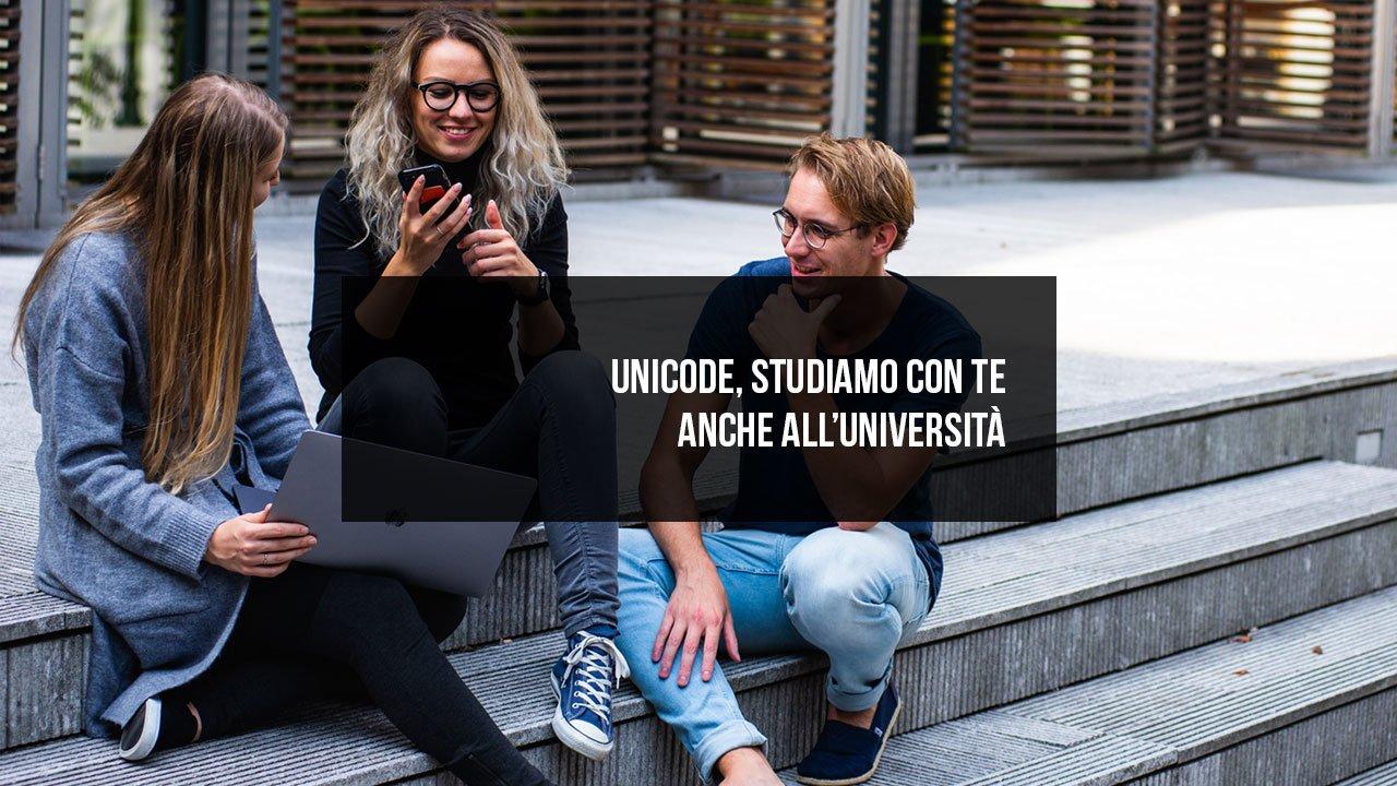 UniCODE, studiamo con te anche all'università